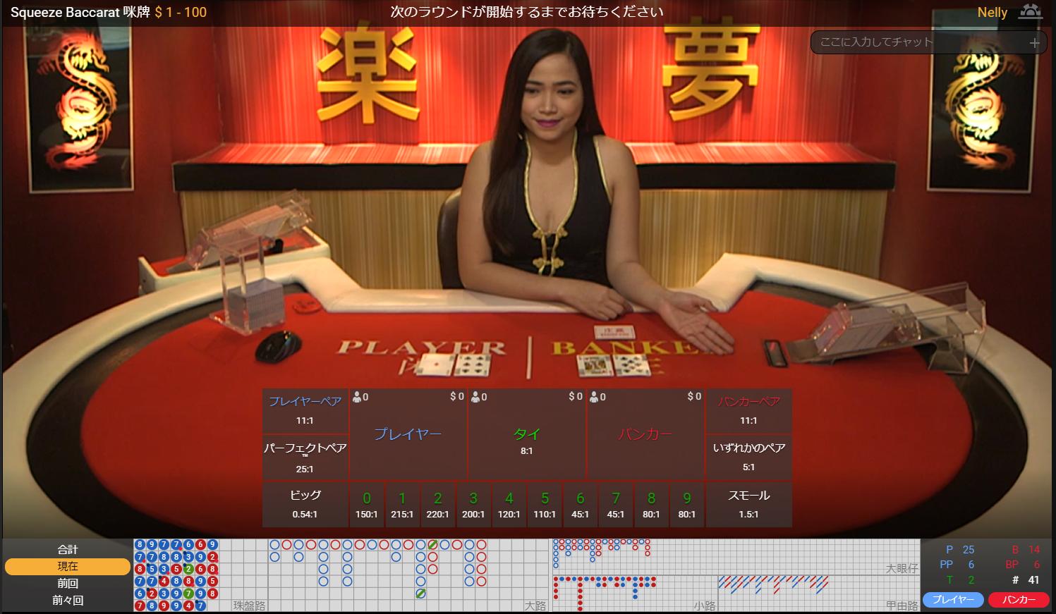 カリビアンカジノ ライブバカラ テーブルリミット